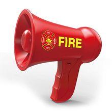 Fire Fighting Megaphone for Kids Pretend Cosplay Firemen Portable Hand Speaker Toys