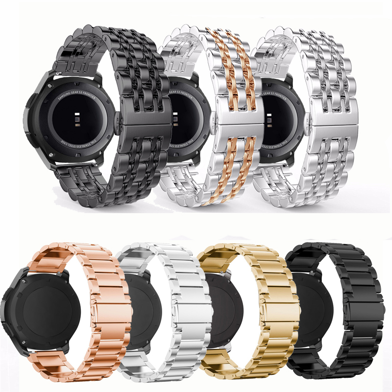 Stainless Steel Gear S3 Frontier Strap For Samsung Galaxy Watch 46mm/42mm/active 20mm 22mm Watch Band Huawei Gt Amazfit Bip