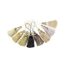 1pc pendurado corda de seda borlas franja costura borla guarnição chave borlas para diy embellish cortina acessórios