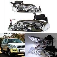 LED DRL For Toyota Land Cruiser Prado 120 LC120 2003 2004 2005 2006 2007 2008 2009 Daytime Running Light Fog Lamp accessories