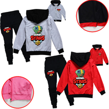 Game Brawling Stars Hoodie Creative Spring Autumn Hoodie Leon Tracksuit Fleece Hooded Sweatershirts R & Elastic Handsome Clothes