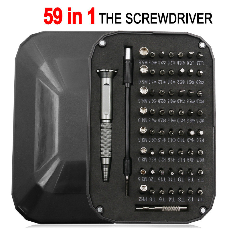 59 in 1 Screwdriver Set Magnetism Mini Precision Screwdriver Multi Computer PC Mobile Phone Device Repair Hand Home Tools