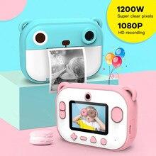 Mini caméra d'impression instantanée enfants jouet caméra sans encre poche Photo imprimante thermique HD écran pour Selfie téléphone intelligent cadeau d'anniversaire