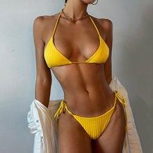 Conjunto de Bikini de encaje liso para mujer, bañador de realce, ropa de playa, traje de baño acolchado de venta al por mayor, bikini de cerezas Tankini #70 2021