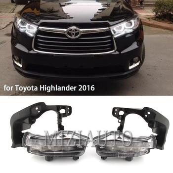 цена на LED daytime running lights for Toyota highlander 2014 2015 2016 2017 2018  DRL Fog Lights foglight Daylight White light