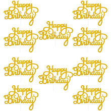 10 sztuk złota Gittler Topper na tort urodzinowy dla dorosłych dzieci urodziny dekoracja na przyjęcie ślubne tort na przyjęcie brzuszkowe artykuły dekoracyjne