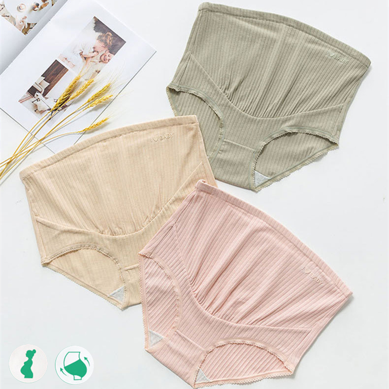 Panties for Pregnant Cotton Maternity Panties High Waist Adjustable Belly Underwear Clothes for Pregnant Women Pregnancy Briefs