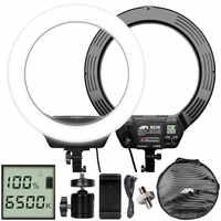 16 ''320 Uds anillo de luz Led con batería 3200-6500K regulable iluminación fotográfica anillo lámpara Selfie para cámara teléfono estudio