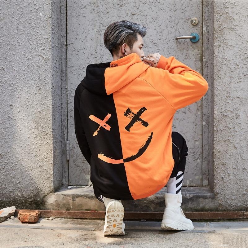 Men's Hoodie Sweatshirt Smiley Fashion Print Pullover Xxxtentacion Streetwear Jumper Hood Sweatshirt Men