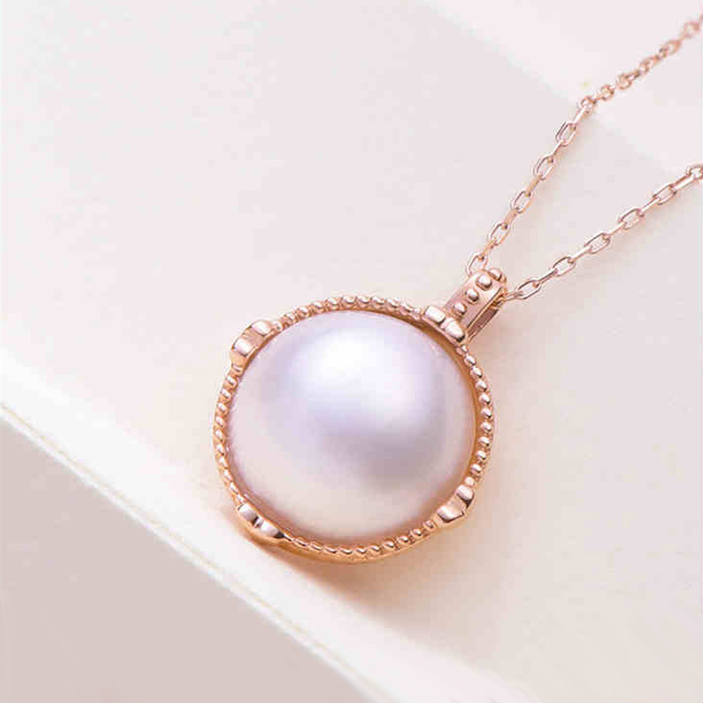 Ladies Luxury Handpicked AAA Freshwater Cultured Single Pearl Pendant Necklaces for Women Wedding Gift Jewelry 8