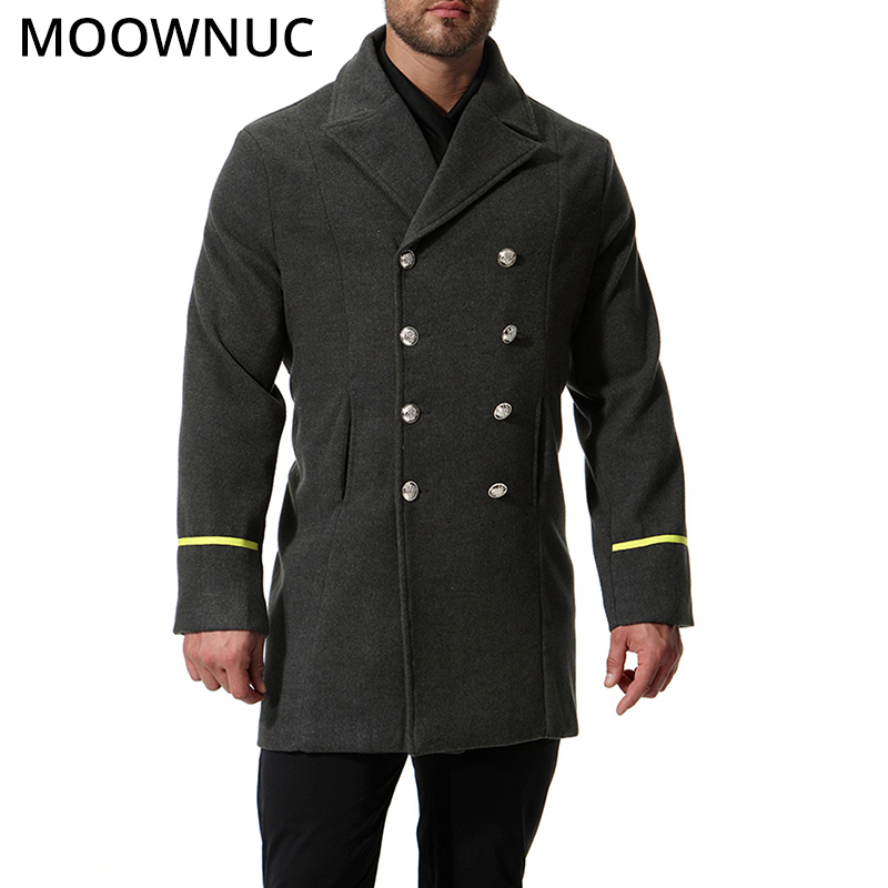 Autumn Men's Coats Male Woollen Overcoat Slim Business Smart Casual Thick Winter Fashion Blends Brand Men's Clothes MOOWNUC MWC