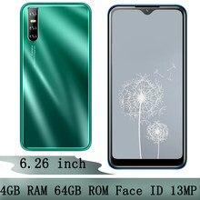 Téléphone portable S5 Pro 6.26 ''écran goutte d'eau Android débloqué 4G RAM 64G ROM Original identification de visage reconnaissance Smartphones téléphone portable