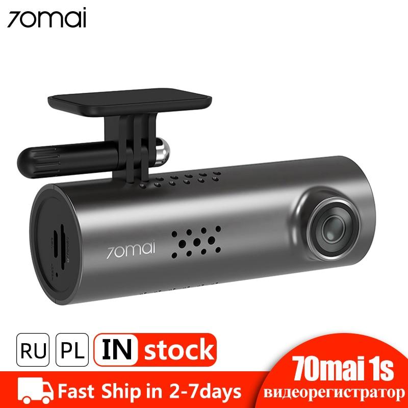 70mai 1S Inteligente Câmera Do Carro DVR Traço Cam Dashcam Wi-fi APP Controle de Voz HD 1080P Night Vision Car câmera Gravador De Vídeo G-sensor