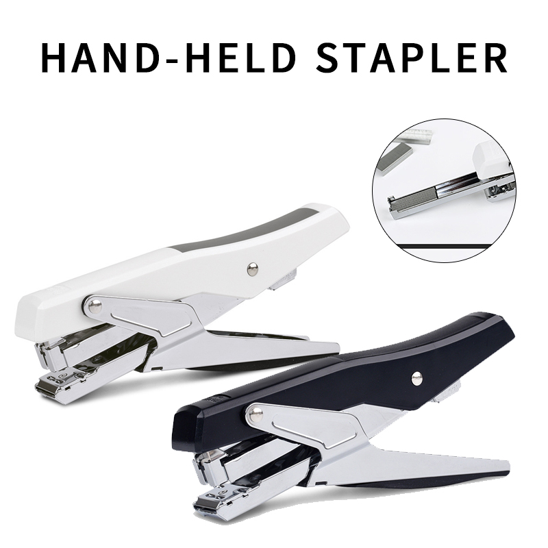 Deli Hand-held Stapler. Stapler Metal Rod Movement Office. Stapler Portable, Easy To Operate, Convenient And Practical