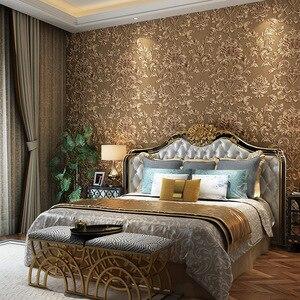 Image 3 - 3D тисненые текстурные обои Роскошные из натурального волокна Черные Серые Бежевые Коричневые нетканые обои для гостиной фоновая стена