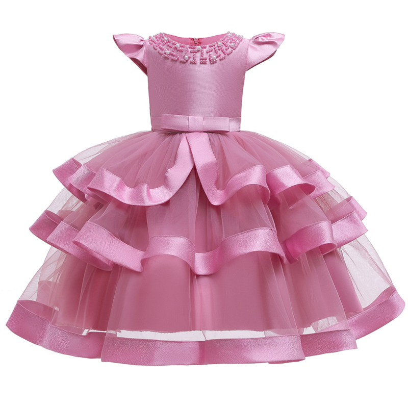 Girls Dress Elegant New Year Princess Children Party Dress Wedding Gown Kids Dresses for Girls Birthday Party Dress Vestido Wear 6