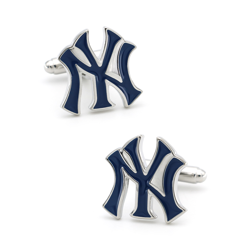 Fashion New York Sport Design Baseball Team Cufflinks For Men Quality Copper Material Blue Color Cuff Links Wholesale&retail
