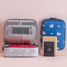 Large Capacity Multi-Layer Document Bags Travel Briefcase Tickets Certificate File Organizer Passport Cards Pouch Accessories