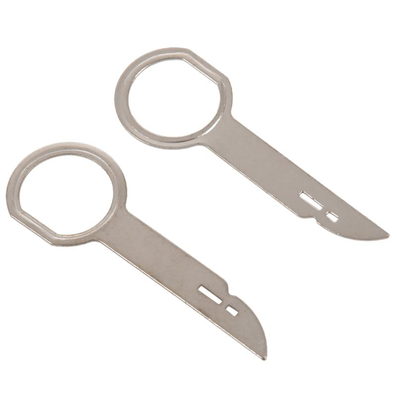 2 Pieces Unlocking Tools For Radio Removal Tool Of Audio Removal Tools For Audi Mercedes Porsche
