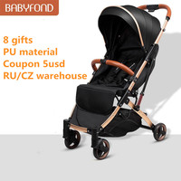 Babyfond 5.8kg luz carrinho de bebê guarda-chuva portátil carrinho de bebê sentar e deitar pram luruxy recém-nascido viagem carro livre presentes