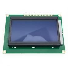 12864 128x64 จุดกราฟิกสีเหลืองสีเขียว/สีฟ้าสีโมดูลจอแสดงผล LCD Backlight ST7920 พอร์ตขนานสำหรับ arduino DIY Kit