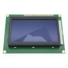 12864 128x64 nokta grafik sarı yeşil/mavi renk arkadan aydınlatmalı LCD ekran modülü ST7920 paralel liman arduino için diy kiti