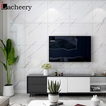 Wallpaper Bedroom Floor-Stickers Ground-Decal Self-Adhesive Marble-Pattern Fashion Thick
