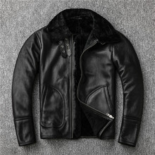 Free shipping,sales 2019 Winter Sheepskin wool fur coat,Shearling jacket,thick warm leather coat.plus size men casual style