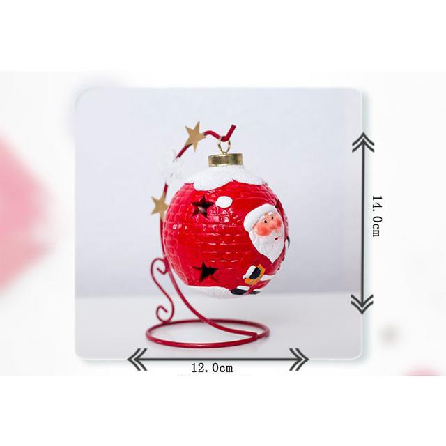 Boże narodzenie Luminous kule dekoracyjne innowacyjna malowana święty mikołaj Snowman światło ozdoba FAS6