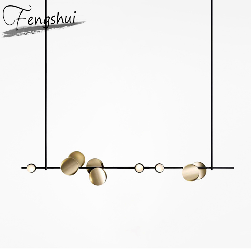Modern Pendant Lamps Beauty Salon Lighting Luxury Strip LED Pendant Lights Bedroom Living Room Hanging Lamp Kitchen Fixtures