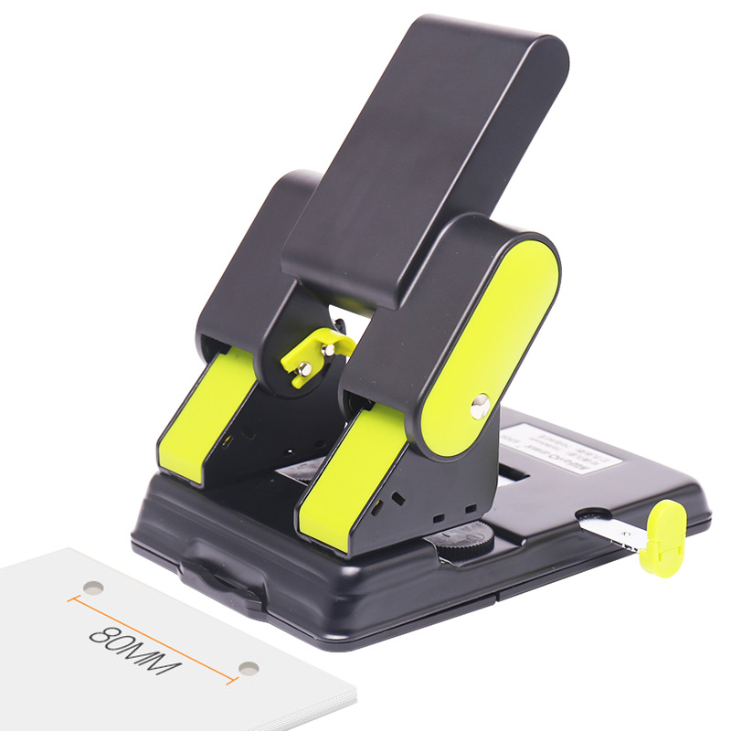 Metal Heavy Duty 2 Holes Punch Paper Cutter Loose-Leaf Punch Scrapbooking Tools Hole Puncher DIY Office Binding Stationery