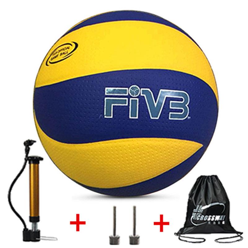 Brand Volleyball, Pu Volleyball Official Match Mva200, Indoor Training, Beach Volleyball, Free Air Pump + Air Needle + Bag