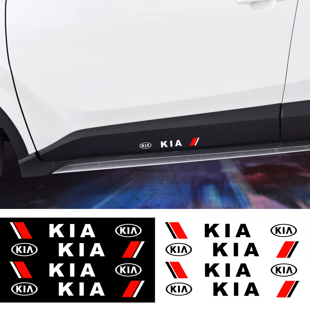 4Pcs 3D Creative Vinyl Car Sticker Car-styling Decal Emblem Badge Case For KIA Cerato Sportage R K2 K3 K5 Car Accessories