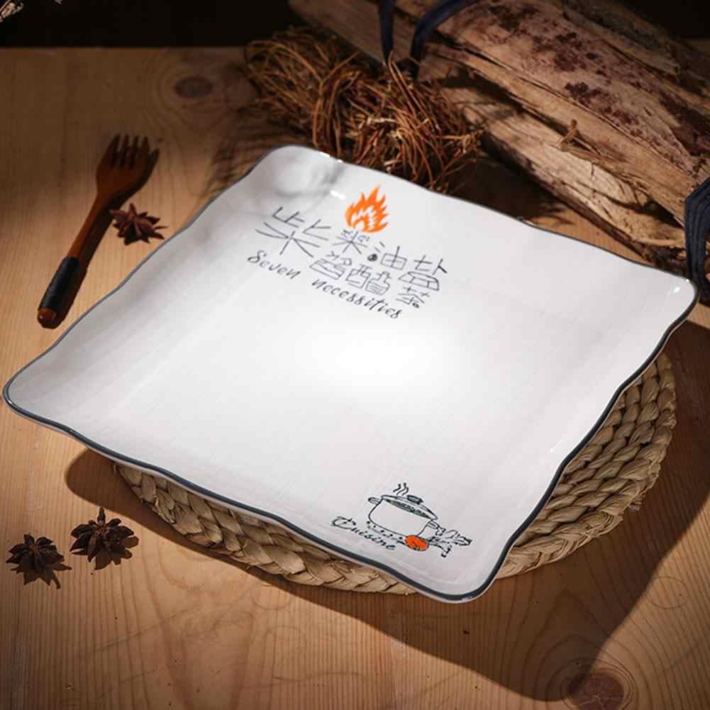 2 шт./компл. квадратные Керамика с суповую тарелку, производство Китай кухни предметы первой необходимости бифштекс десерт фрукты блюдо
