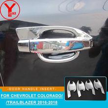 chrome side door handle insert For chevrolet trailblazer colorado holden 2016 2017 2018 car styling handle accessories YCSUNZ