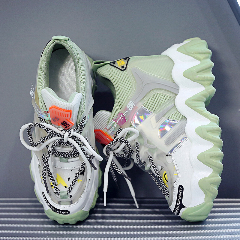 2020 Women Sneakers Colorful Women Shoes Chunky Sneakers Casual Shoes Mesh Platform Footwear Fashion Increased Sneakers