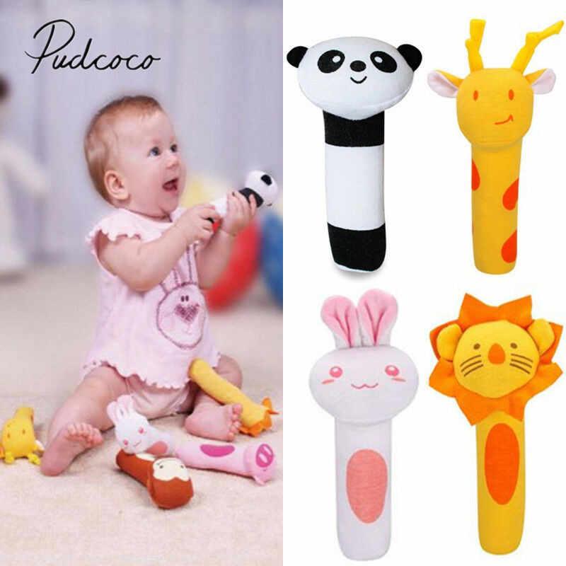 2019 Baby Classic Toys Animal Handbells Developmental Toys Bed Bells Kids Baby Soft Toys Rattle Lovely Soft Mobiles