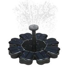 8 в Бесщеточный Водяной фонтан Плавающий Солнечный фонтан садовая водяная Тыква 180 л/ч птица для ванной пруд садовый декор 4 насадки водонепроницаемый