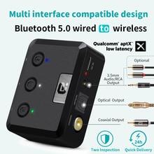 MR235B Optische Coaxiale Bluetooth 5.0 Ontvanger Met Microfoon Aptx Ll 3.5Mm Jack Aux Wireless Audio Adapter Aptx Lage Latency