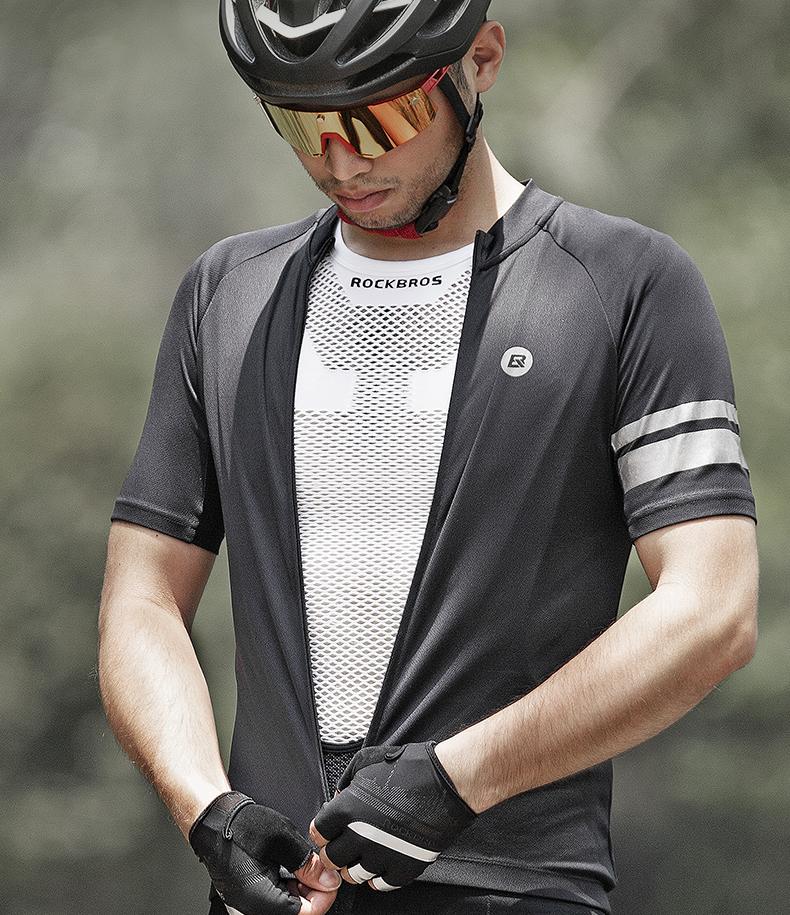ROCKBORS Cycling Jersey Long Ultralight Reflective Bicycle Jacket Set Windproof Road Mountain Bike MTB Jackets Cycling Sets