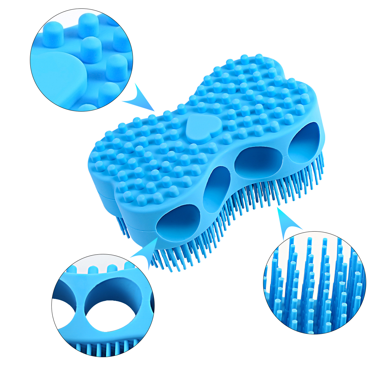 Silicone Massage Shampoo Brush Bath Brush Adult Children Bath Brush Massage Backwash Bath Brush Head Brush