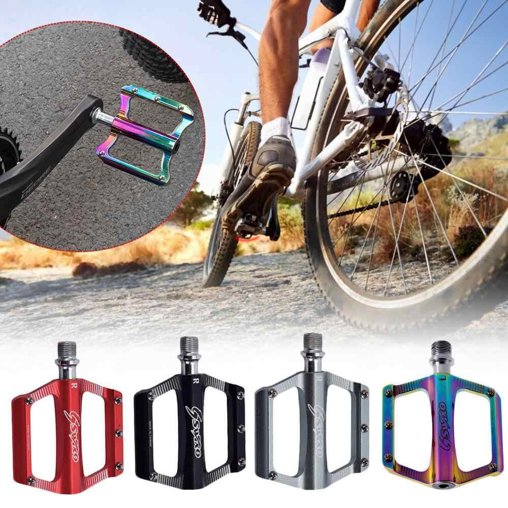 Pair MTB Mountain Bike Bicycle Pedals Universal Bearing Pedals Non-slip Folding