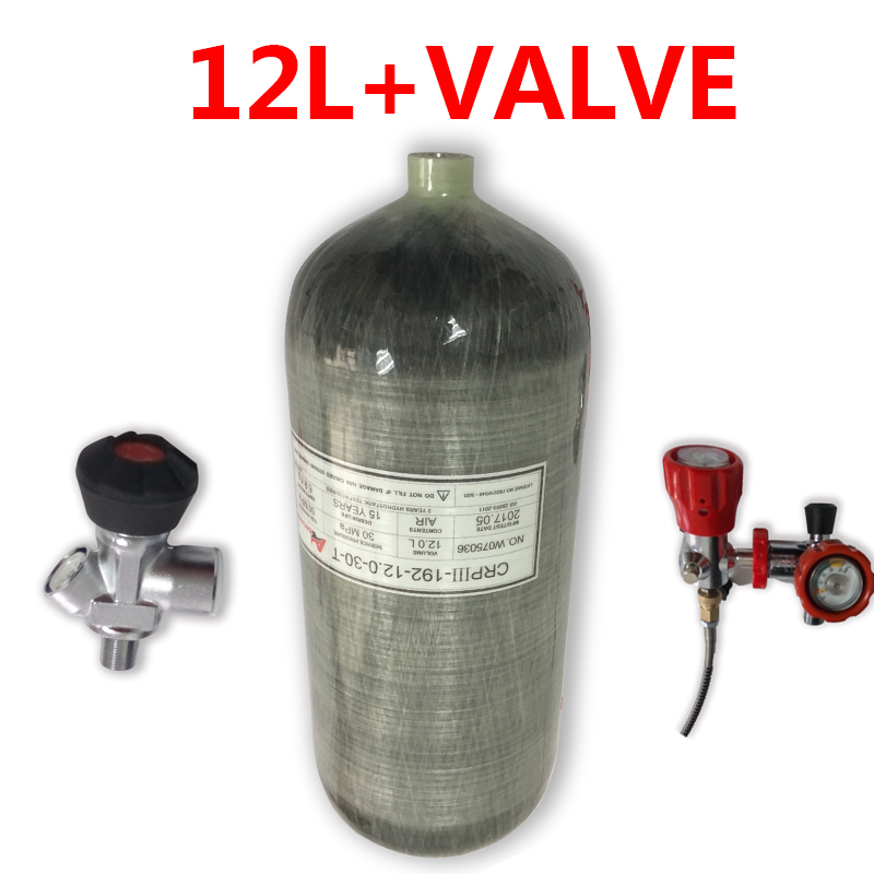 Acecare 12L Hpa Pcp Air Tank Pcp Airforce Condor Filling Station Paintball Gun For Underwater Hunting Diving Underwater Rifle