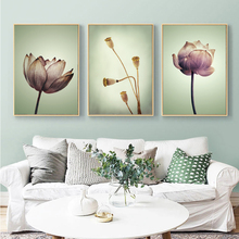 Yuke Art Modern 3 PcsWall Art Canvas Poster Flower Print Nordic Decorative Picture Painting Modern Living Room Home Decor