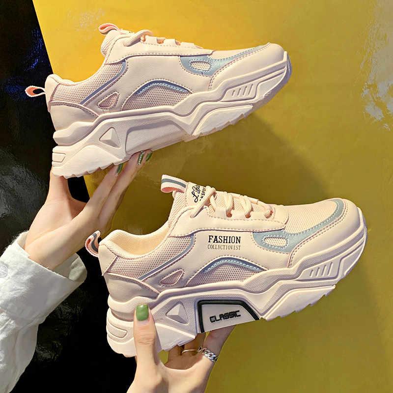 Giày Nữ Thoáng Khí Giày Sneaker Thời Trang cao cấp người lớn Masculino Xu Hướng Mới Thời Trang phù hợp với Zapatilla Mujer
