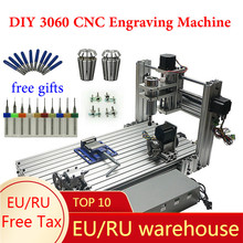 DIY CNC Router 3060 metal 3axis 4axis 5axis 400W Ball Screw USB DIY Drilling Engraving Machine for wood acrylic and plastic