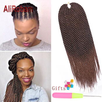 AliRobam Senegalese Twist Crochet Hair Ombre Brown Braids Low Temperature Fiber Synthetic Braiding Hair Extensions 22Roots/pack eleni bizas learning senegalese sabar