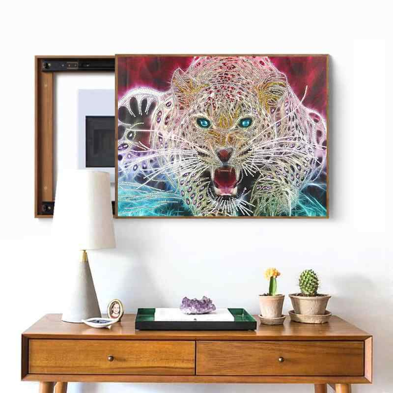 5D DIY 特殊形状ダイヤモンド塗装漫画の動物虎刺繍クロスステッチ部分特別な家の装飾