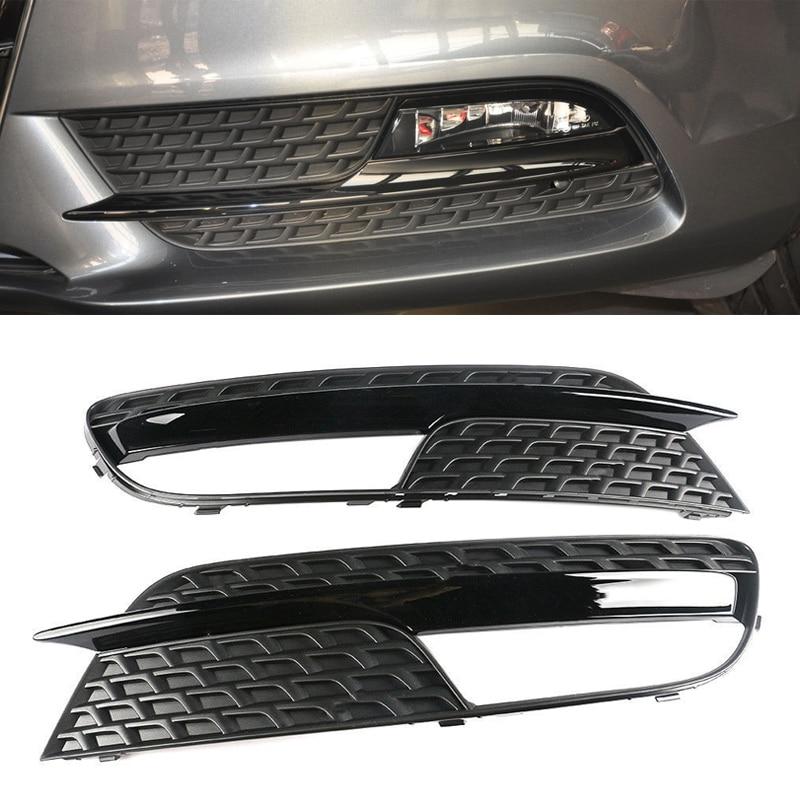 Jcsportline fits Audi Q5 SQ5 Sport SUV 2013-2017 Side Fog Light Lamp Grill Covers 2pcs//set
