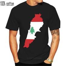 تي شيرت رجالي مضحك لعام 2020 تي شيرت حداثي للسيدات علم خريطة لبنان مع اشواط رائعة